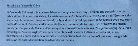 Histoire de l'encre de chine, Tom Lemoine, 6èmeA